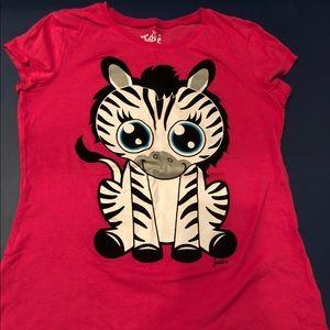 Girl's Justice Zebra T-Shirt